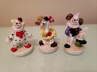 FLAMBRO CLOWN FIGURINES  Lot OF #3