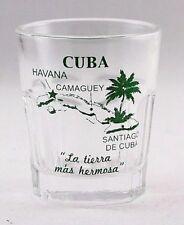 CUBA VINTAGE MAP OUTLINE SHOT GLASS SHOTGLASS