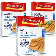3x elastoplast Resistente All' Acqua Forte Aderenza ferita GRAFFI taglio pascolano GESSO