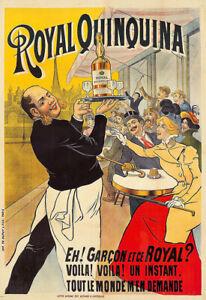 Royal Quinquina Deco  Cafe Restaurant  Alcohol Bar Pub Drink Print Poster