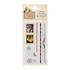 DOCRAFTS LETTERA A BABBO NATALE TIMBRI CLEAR 75MM X 140MM 6 TIMBRI