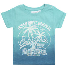Boys / Children Dip Dyed T Shirt with American Surf Print ~ 3 Months to 13 Years