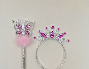 Girls Star Wand And Tiara Set Princess Fancy Dress Dressing Up Girls Party Wear