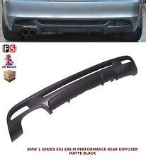 BMW 1 Série E82 E88 M Performance Double Pare-Chocs Arrière Diffuseur Valance noir mat