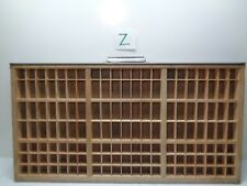 Vintage Printers Type Cabinet Drawer Tray Wood Miniatures thimble HAMILTON Z