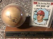 Pete Rose Autograph Ball w/ baseball card