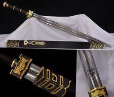 "Folded Pattern Steel Chinese Sword ""Ruyi Jian""(劍) Double Groove Sharp Blade #812"