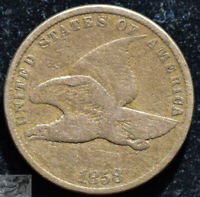 1858 Small Letters, Flying Eagle Cent, Fine+ Condition, Free Shipping, C5135
