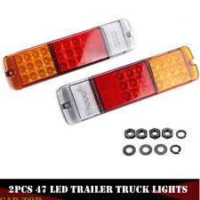 2x 12V 47LED Brake Stop Rear Tail Lights Indicator Reverse Lamp Trailer Truck RV
