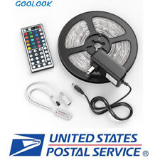 5M LED Strip Light SMD 5050 RGB+44 Key Remote(Include Battery)+Power Adapter NEW