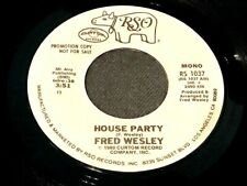 FRED WESLEY House Party 45 RSO WLP mono/stereo soul funk