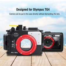 60M Underwater Waterproof Housing Case Diving Cover For Olympus TG4 Camera DY