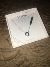 Things Remembered Silver Necklace With Initial O Swarovski .925 sterling silver