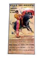 Stierkampf Plakat aus Barcelona