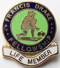 FRANCIS DRAKE FELLOWSHIP  LIFE MEMBER BOWLING CLUB BOWLS BADGE