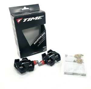 Time MX 6 Mountain Bike Pedals Dual Sided Clipless Platform WITH CLEATS