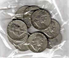 US $5.00 FACE  Franklin  SILVER HALF DOLLARS -  (10) TOTAL