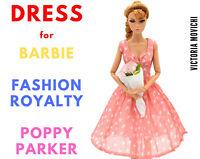 Pink Chiffon Dress for Fashion Royalty, Barbie, Poppy Parker 12 inch dolls