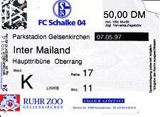 Ticket Uefa Cup Finale 07.05.97 Schalke 04 Inter Mailand DFB Deutschland Italien
