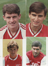 "Arsenal FC - 4 ""signé"" photos de vieux joueurs-Look!"