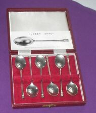 VINTAGE 1973 FRANCIS HOWARD STERLING SILVER  QUEEN ANN DESIGN CASED TEA SPOONS