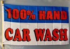 100% Hand Car Wash 3X5' Flag Banner New Message Clean Auto Car Wash