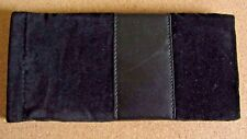 Black glasses case, soft spectacle, velvet leather look, spring close (M4)