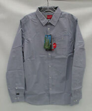 Craghoppers Mens Nosilife Henri Long Sleeve Shirt CMS533 Dusk Blue Sz Medium