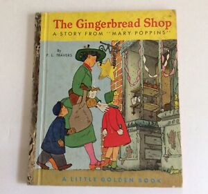 1952 A Edition Gingerbread Shop Mary Poppins Little Golden Book Magical