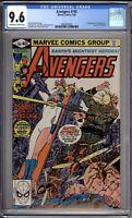 Avengers 195 CGC Graded 9.6 NM+ 1st Taskmaster Cameo Marvel Comics 1980