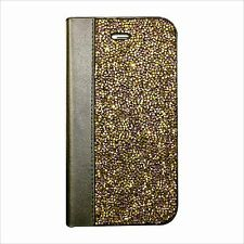 Purple Gold Made with Swarovski Crystals Luxury Wallet Case Cover iPhone XS Max