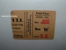 JETHRO TULL Concert Ticket Stub 1973 BUFFALO MEMORIAL AUDITORIUM Passion Play