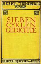 AUGUST STRINDBERG: Sieben Cyklen Gedichte (1923) (Reihe Deutsche Gesamtausgabe)