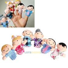 6x Fingerpuppen Stoffpuppe Baby Kinder Spielzeug Familie Fingerpuppe Set Xmas