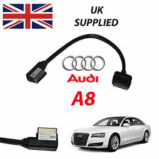 Audi A8 2011- 2014 4F0051510R Iphone Ipod Audi o & Video USB 27cm Cable (Rojo)