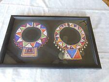 Antique Masai women wedding glass-beaded collars/necklaces Kenya/ Ta 19x29