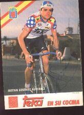 ARSENIO GONZALEZ GUTIERREZ cyclisme Signed TEKA Team autografo cycling ciclismo