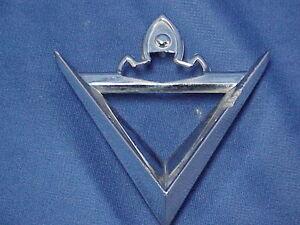 1957 57 Lincoln Premiere Rear Fender Chrome Trim Emblem Ornament