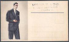 MILANO CITTÀ 141 SARTORIA MODA Cartolina PUBBLICITARIA ADVERTISING RECLAME