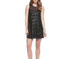 NWT Juicy Couture Black Beaded Tulle Dress Size 6 Retail $328