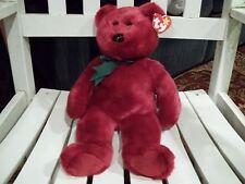 TY Beanie Buddy - TEDDY CRANBERRY BEAR  (14 inch) -MWMT's Stuffed Animal Toy