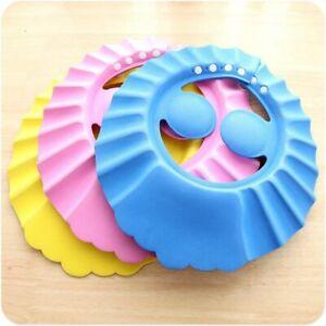 Adjustable Baby Kids Shampoo Bath Shower Cap Wash Hair Shield Hat with Ear Cover