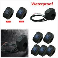 Waterproof Motorcycle 7//8/'/' 76cm Handlebar Engine Kill Start Stop Switch Button