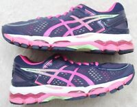 Asics Running Shoes Seven 7 Athletic Sneakers European 38 Blue Pink GelKayano 22