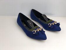 Kurt Geiger Katie Women's Blue Faux Suede Ballet Flat Shoe UK Size 7