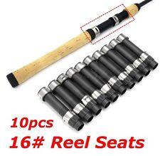 10Pcs Black DPS Style 16# Reel Seat Spinning Rod Building & Repair 105mm Length