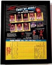 VTG WWF WWE 1989 LJN WRESTLING SUPERSTARS SERIES 6 FRAMED MAGAZINE POSTER AD WCW