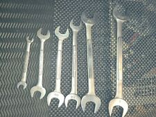 Vintage Craftsman 6 Piece V SAE Open End Wrench Set Forged In USA