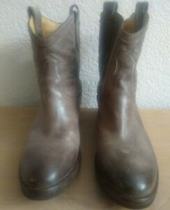 Frye Carson Shortie Brown Western Bootie/boots Womens Size 8