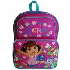 "Backpack 16"" Dora The Explorer Cargo Multi Compartment School Bag New"